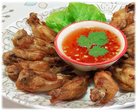 Thai Food Recipe |   Thai Fried Chicken Wings with Salt