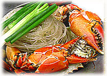 Thai Recipes : Baked Crabs with Mung Bean Noodle